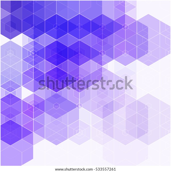 abstract hexagon background blue