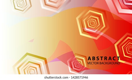 Abstract hexagon background with gradient color . Technology polygonal design . Vector