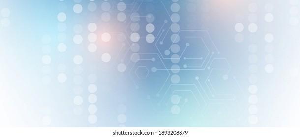Abstrakter sechseckiger Hintergrund. Politisches Design der Technologie. Digitaler futuristischer Minimalismus. Vektorgrafik