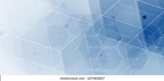 Abstract hexagon background. Technology polygonal design. Digital futuristic minimalism. Vector