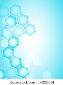 Abstract hexagon background. Technology polygonal design