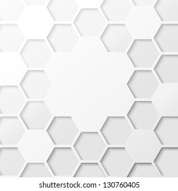 Abstract hexagon background. Vector illustration, contains transparencies, gradients and effects.