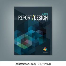 Abstract hexagon cube pattern background design for corporate business annual report book cover brochure flyer poster