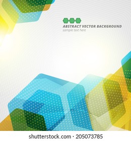 Abstract hexagon geometric vector background