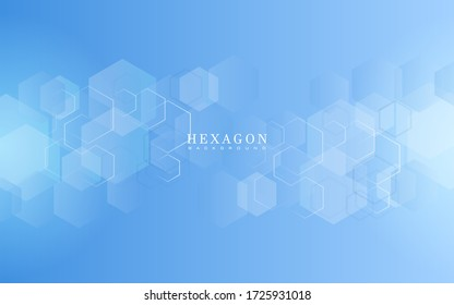 Abstract hexagon gradient shapes background. Vector illustration in eps10.