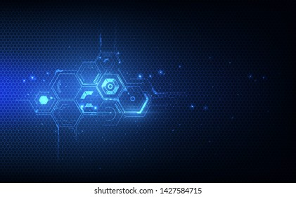 abstract hexagon pattern tech sci fi innovative concept design background. vector illustration