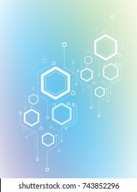 Abstract hexagon technology background, vector illustration futuristic technology