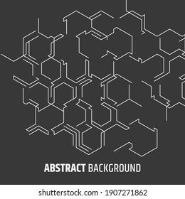 Abstract hexagonal background. Digital vector design. Modern geometric backdrop. Futuristic technology. Communication concept. Futuristic layout for web and print.