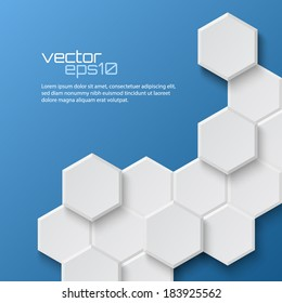 Abstract hexagonal background. Vector illustration
