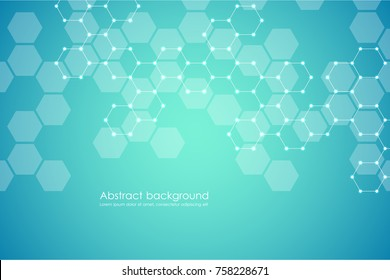 Abstract hexagonal background, vector illustration