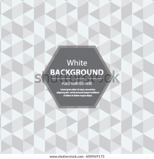 Abstract Hexagonal Background White Seamless Texture