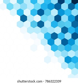 Abstract hexagonal blue background