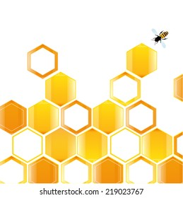 Abstract hexagonal honey background vector