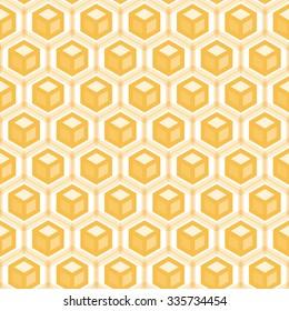 Abstract hexagonal seamless pattern