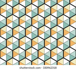 Abstract hexagonal seamless pattern. Vector background. Geometric texture