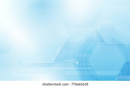 Abstract hexagons technology concept background. Space for your text