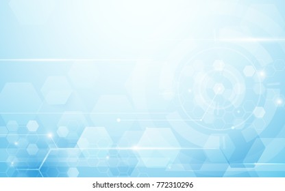 Abstract hexagons technology digital hi tech concept background. Space for your text