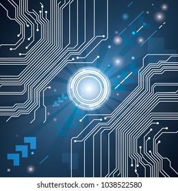 abstract hi speed digital internet. vector future digital interface, electronic technology