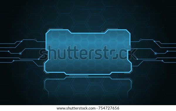 Abstract Hifi Digital Futuristic Frame Vector Stock Vector