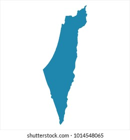 Abstract - High Detailed blue Map of Israel isolated on white background. for your web site design map logo, app, ui, Travel vector illustration eps10.