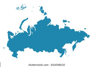 Abstract - High Detailed blue Map of Russia isolated on white background. for your web site design map logo, app, ui, Travel vector illustration eps10.