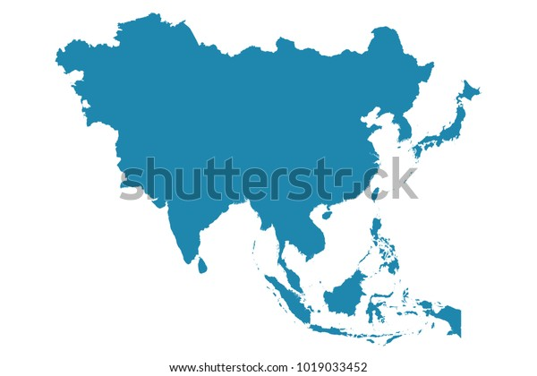 Detailed Map Of Asia.Abstract High Detailed Blue Map Asia Stock Vector Royalty Free