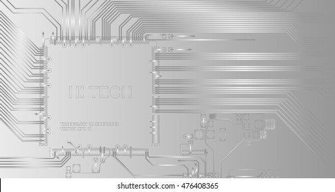 Abstract high tech background with a circuit board texture. Vector technological Illustration.