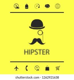 Abstract hipster halftone logo. Graphic elements for your design