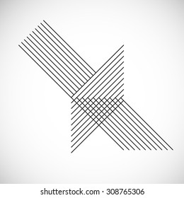 Abstract Hipster Lines Background . Vector .
