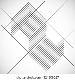 Abstract Hipster Lines Background . Vector Design .
