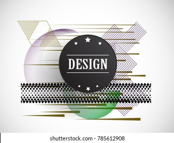 Abstract Hipster Lines Background . Vector Design with geometric elements for business cards, brochures. Geometrical creative composition