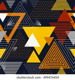 Abstract hipster polygon triangle background. Seamless Triangle background