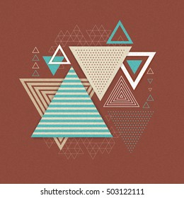 Abstract hipster polygon triangle background. Triangle pattern background