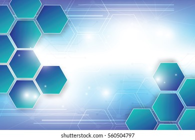 abstract hitech technology background with hexagons