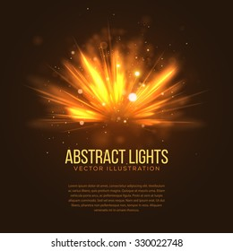Abstract Holiday Light Rays Design. Vector Illustration.