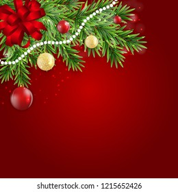 Abstract Holiday New Year and Merry Christmas Background. Vector Illustration EPS10