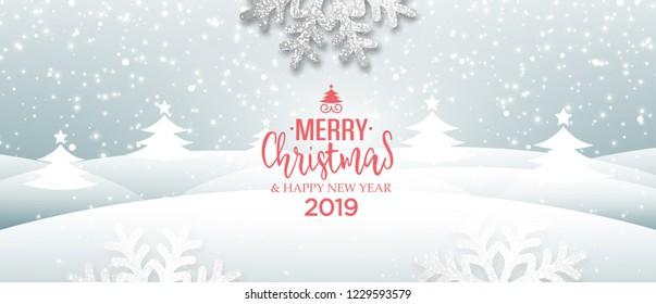 Abstract holiday winter vector Christmas greeting card
