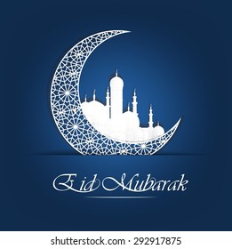 abstract holy background for eid mubarak.vector