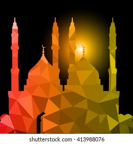abstract holy background for eid ul adha
