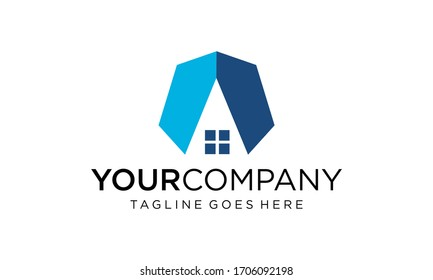 Abstract home for logo design concepts editable