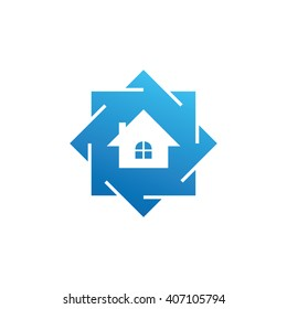 Abstract Home Repair, House Logo Concept