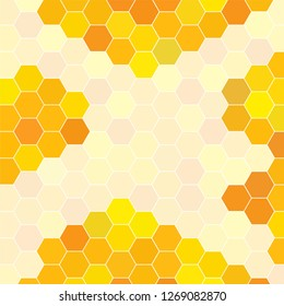 Abstract honeycomb pattern. Geometric hexagons background. Vector