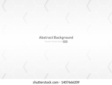 Abstract honeycomb white and gray background.geometric modern design.vector Illustration.