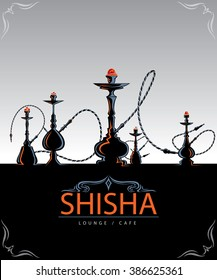 Abstract Hookah Art , Shisha is type of Hookah (Vector Art)