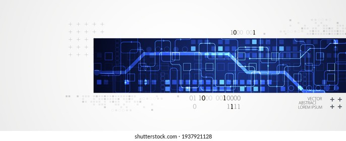 Abstract horizontal technology background. Communication concept, futuristic digital innovation background. Vector illustration
