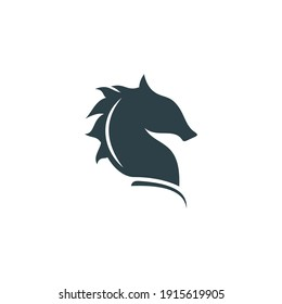 Abstract horse logo, silhouette, simple, line art