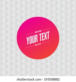 Abstract Hot Color Round Text Box With White Hexagon Pattern Background Design Eps 10 Stock Vector