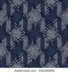 Abstract Houndstooth Checked Variegated Stroke Textured Background. Seamless Pattern.