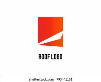 Abstract house logo design template.  Universal vector icon