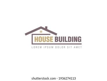 abstract house logo design vector illustration